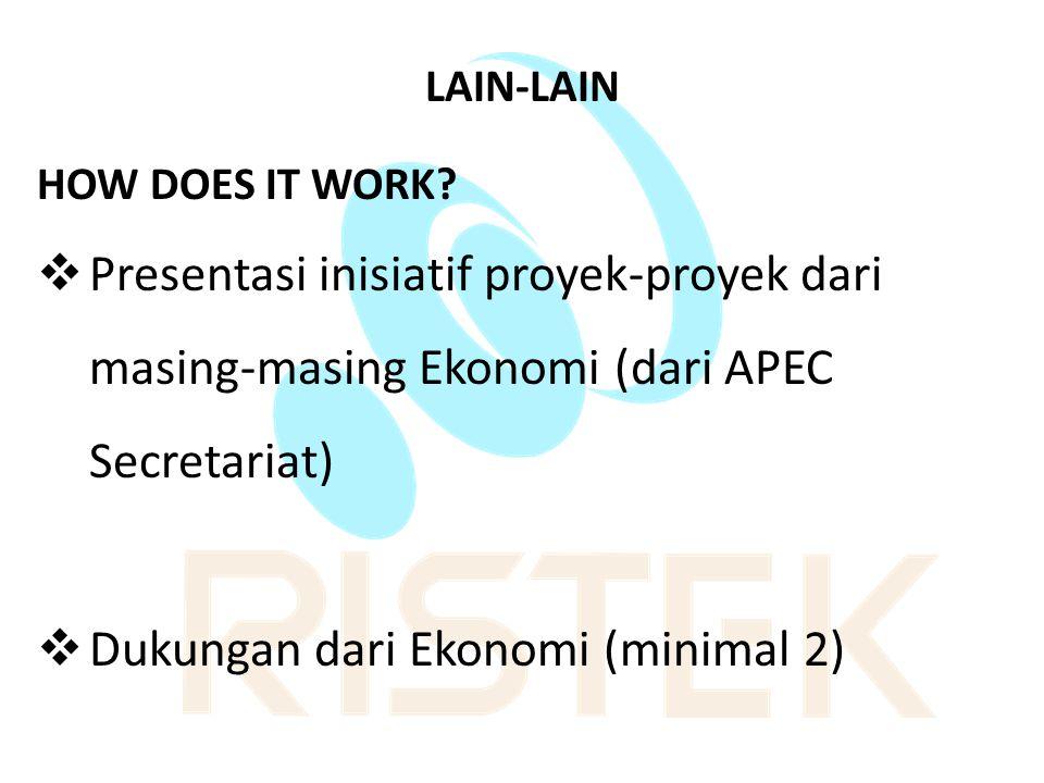 Dukungan dari Ekonomi (minimal 2)