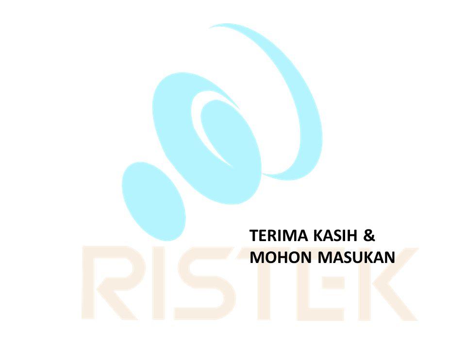 TERIMA KASIH & MOHON MASUKAN