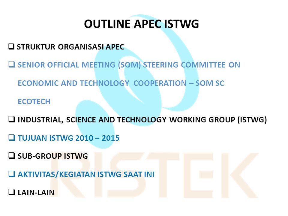 OUTLINE APEC ISTWG SENIOR OFFICIAL MEETING (SOM) STEERING COMMITTEE ON