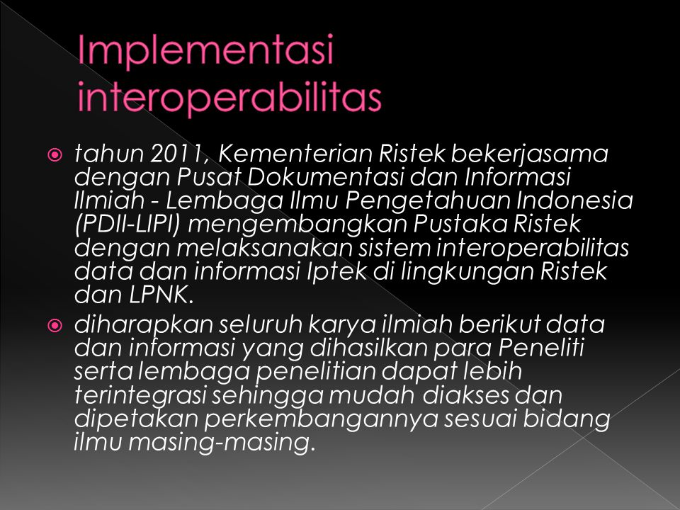 Implementasi interoperabilitas