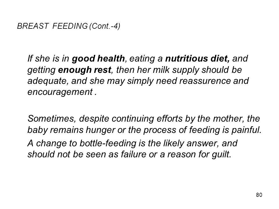BREAST FEEDING (Cont.-4)