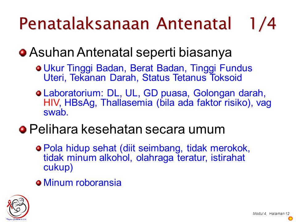 Penatalaksanaan Antenatal 1/4