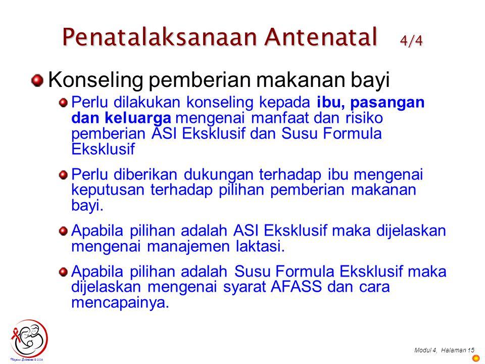 Penatalaksanaan Antenatal 4/4