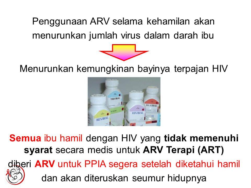 Penggunaan ARV selama kehamilan akan