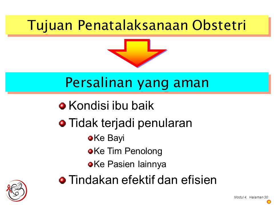 Tujuan Penatalaksanaan Obstetri