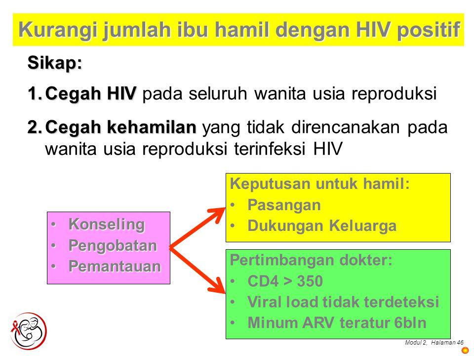 Kurangi jumlah ibu hamil dengan HIV positif