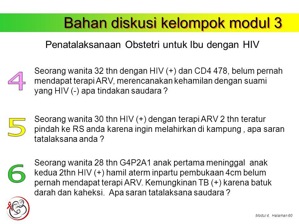 Penatalaksanaan Obstetri untuk Ibu dengan HIV