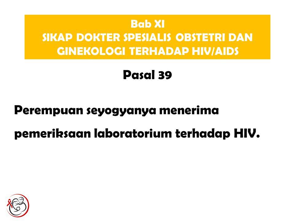 SIKAP DOKTER SPESIALIS OBSTETRI DAN GINEKOLOGI TERHADAP HIV/AIDS