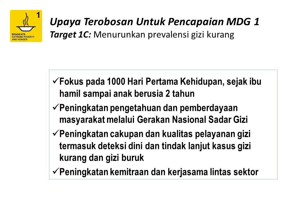 Upaya Terobosan Untuk Pencapaian MDG 1