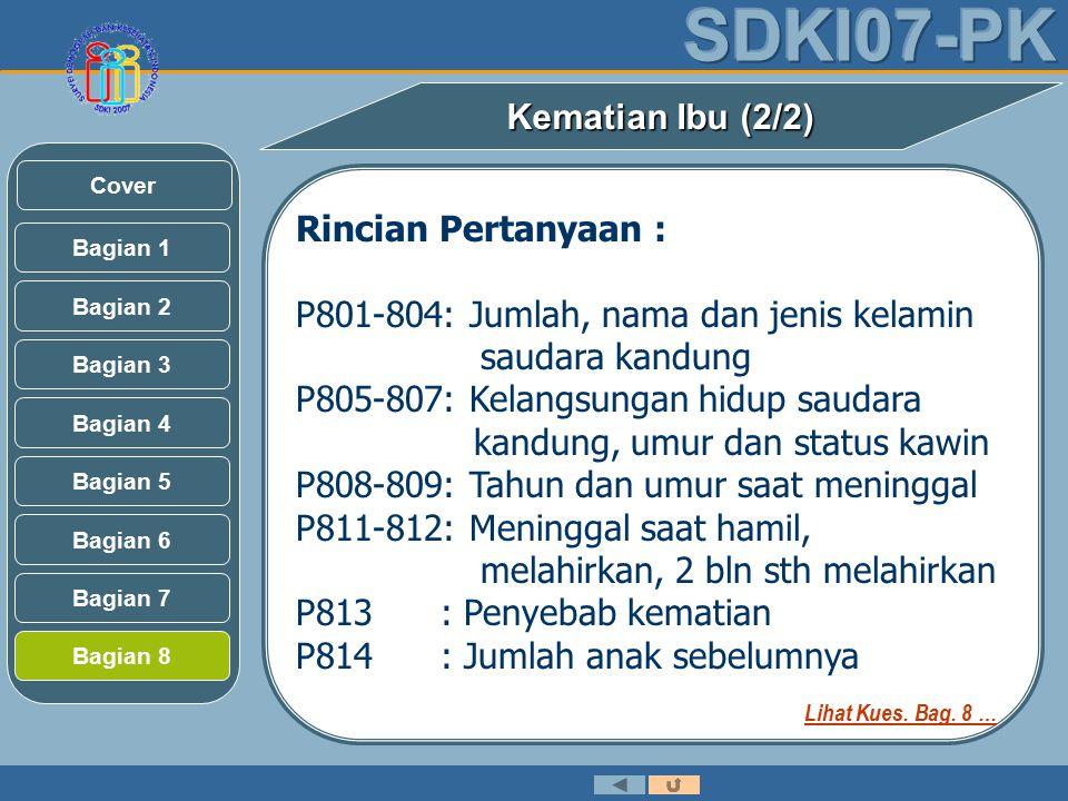 P801-804: Jumlah, nama dan jenis kelamin saudara kandung