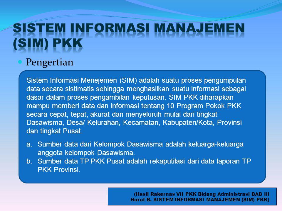 SISTEM INFORMASI MANAJEMEN (SIM) PKK