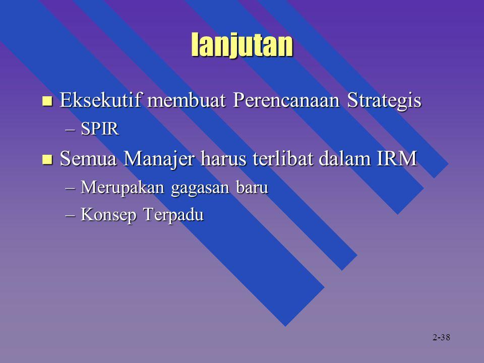 lanjutan Eksekutif membuat Perencanaan Strategis