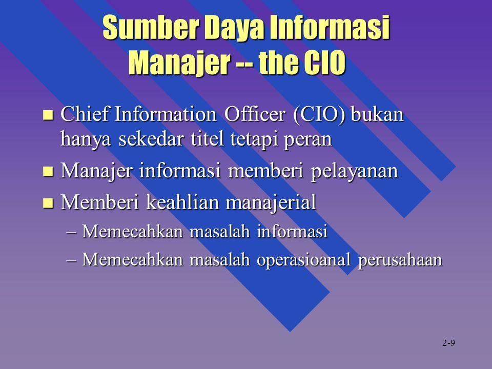 Sumber Daya Informasi Manajer -- the CIO