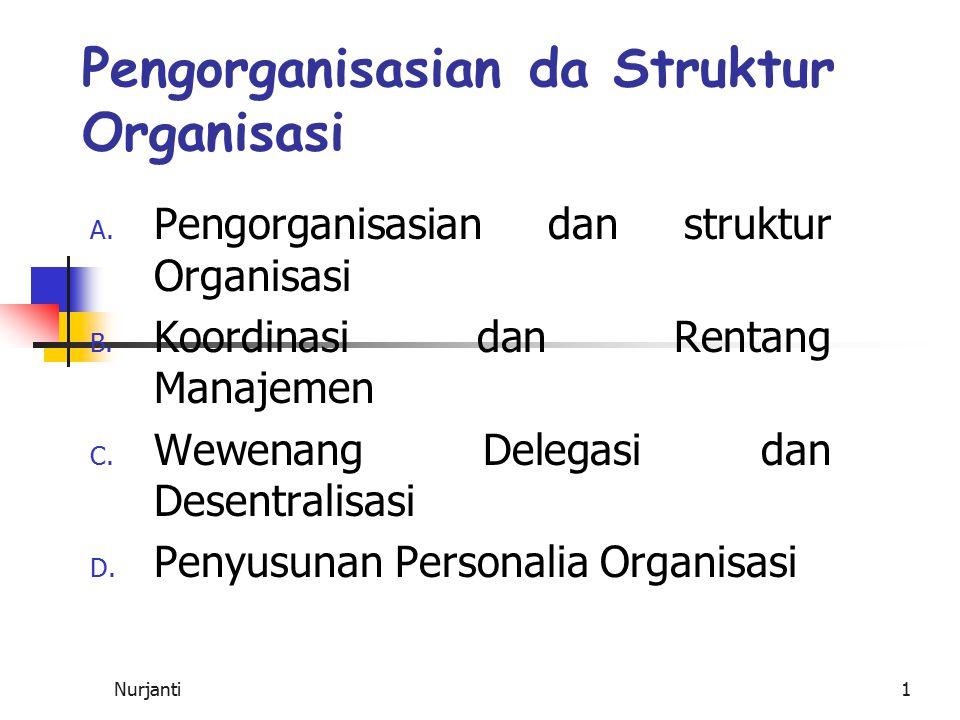 Pengorganisasian da Struktur Organisasi