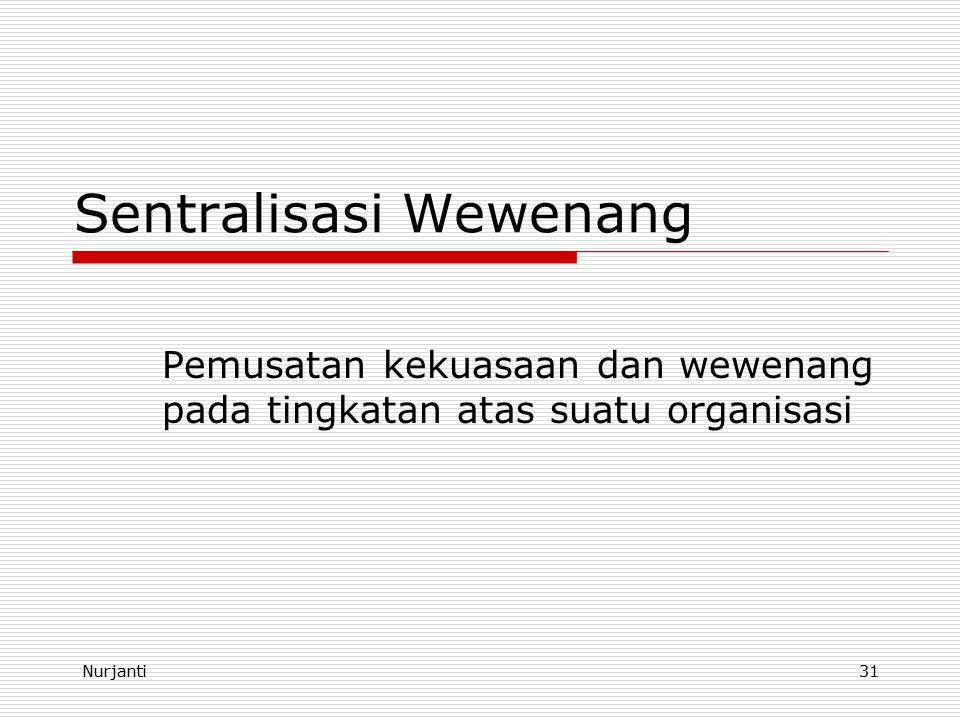 Sentralisasi Wewenang