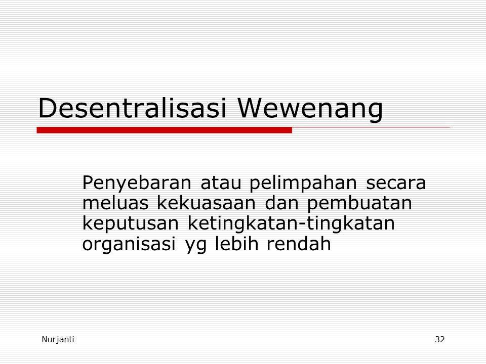 Desentralisasi Wewenang