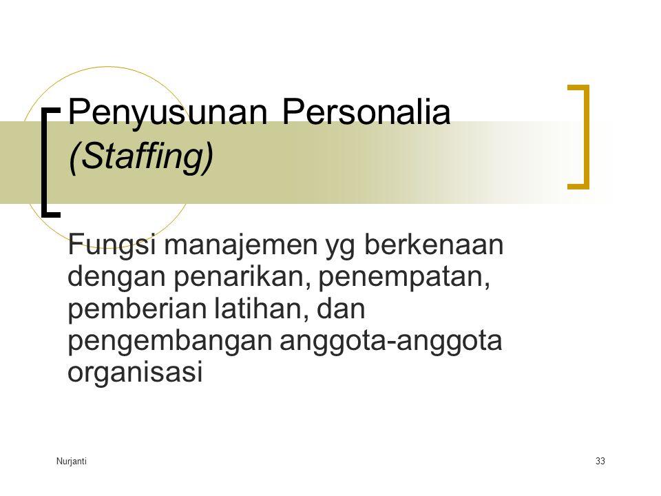 Penyusunan Personalia (Staffing)