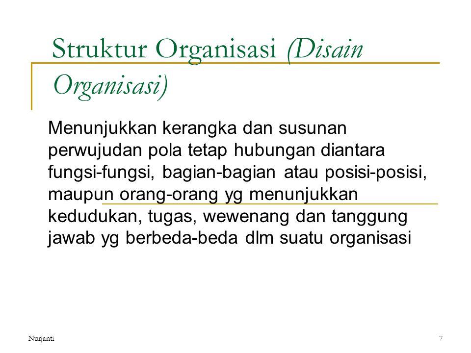 Struktur Organisasi (Disain Organisasi)
