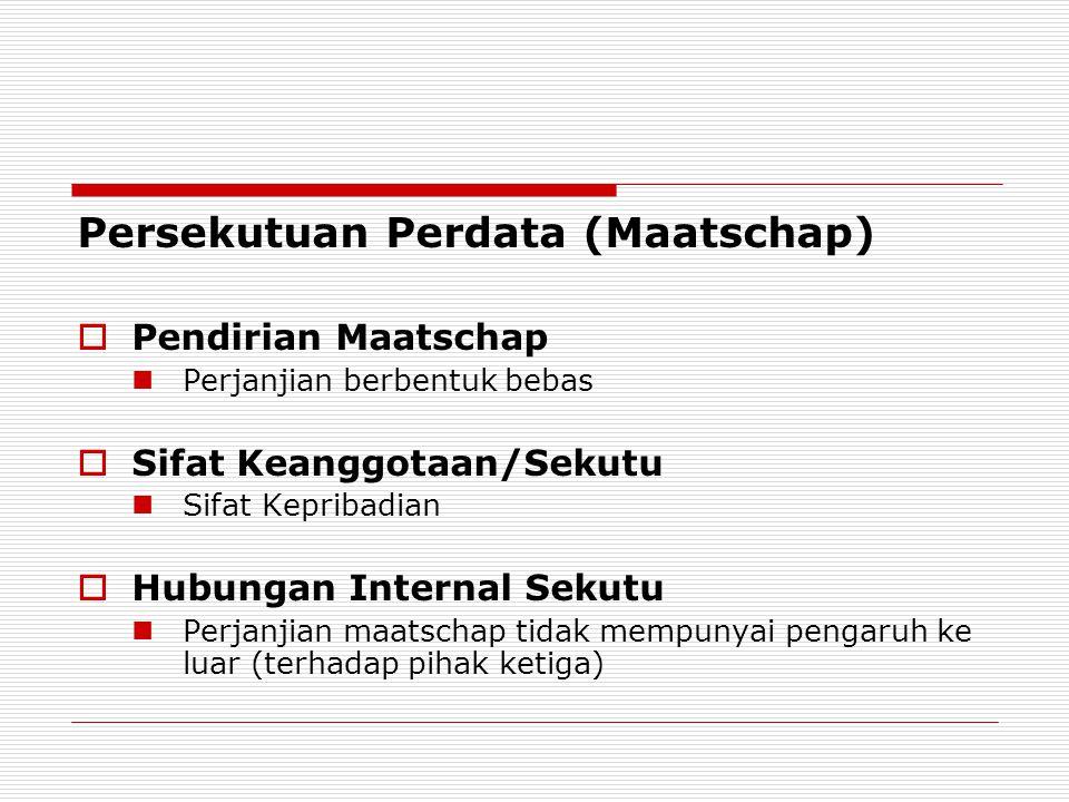 Persekutuan Perdata (Maatschap)