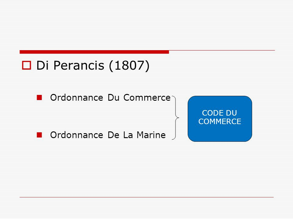 Di Perancis (1807) Ordonnance Du Commerce Ordonnance De La Marine