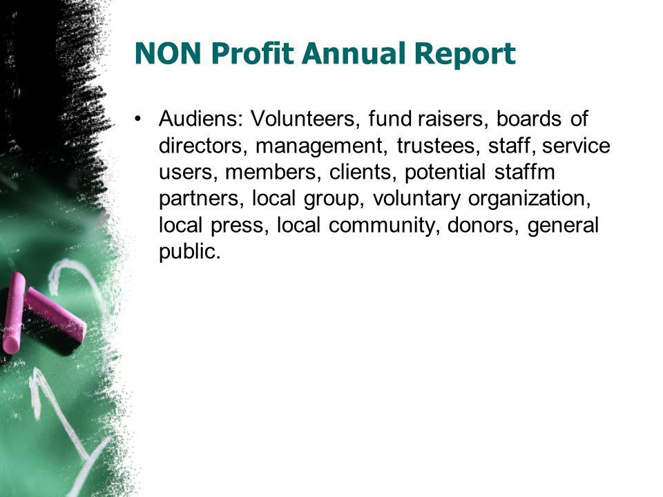 NON Profit Annual Report