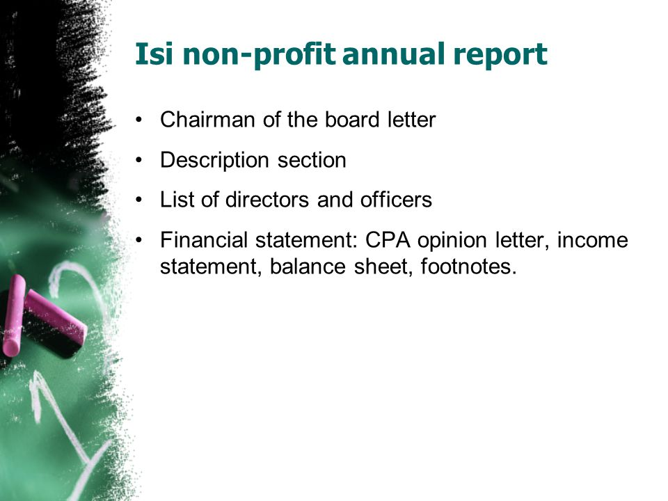 Isi non-profit annual report