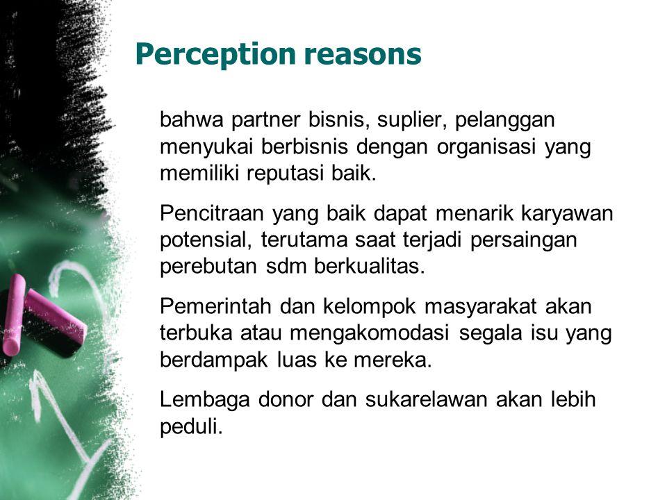 Perception reasons