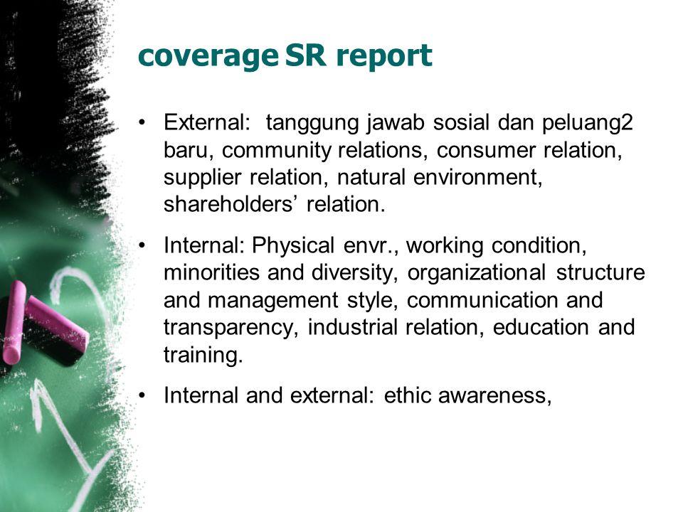 coverage SR report