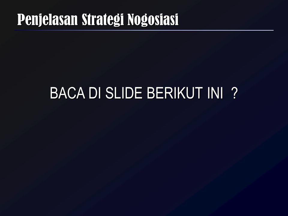 Penjelasan Strategi Nogosiasi