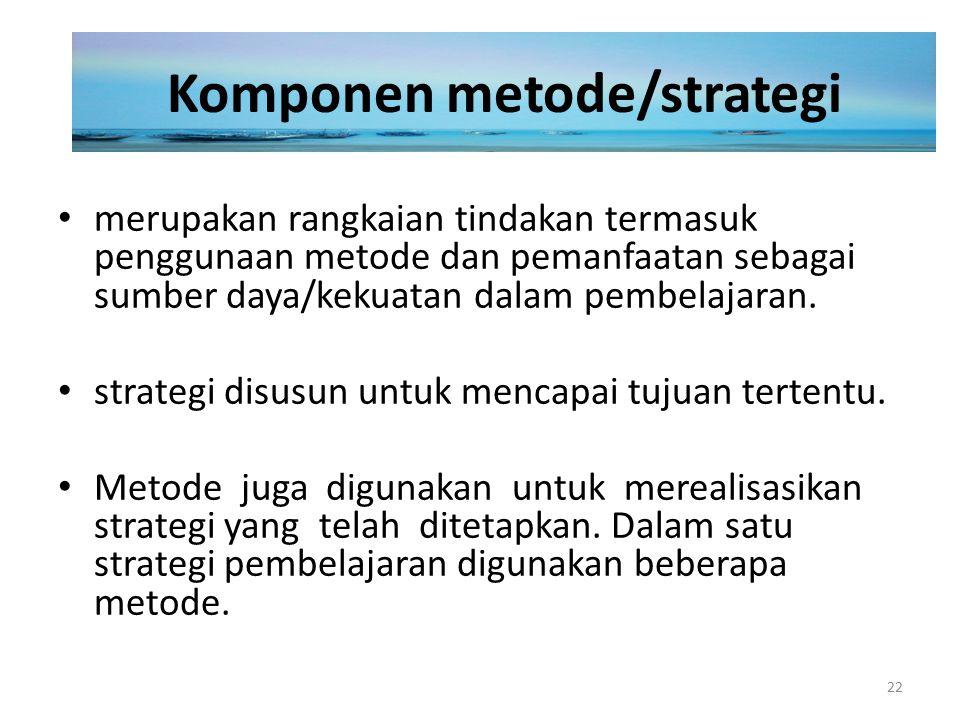 Komponen metode/strategi