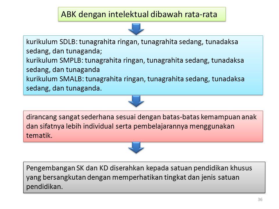 ABK dengan intelektual dibawah rata-rata