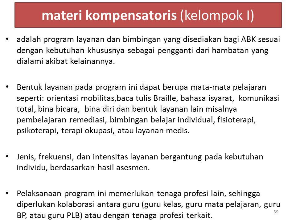 materi kompensatoris (kelompok I)