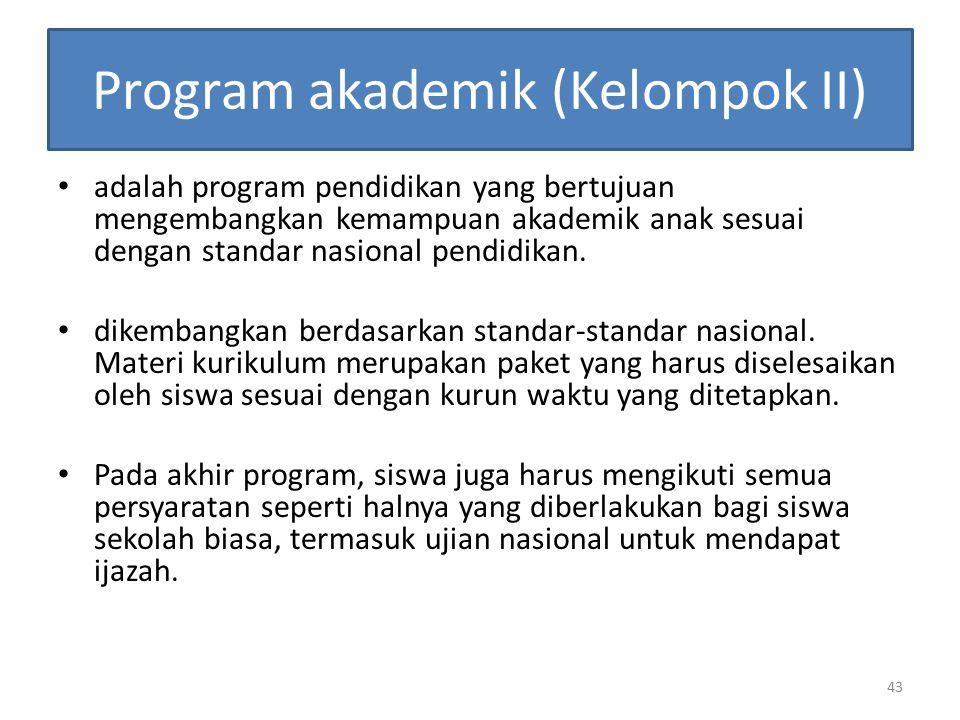 Program akademik (Kelompok II)