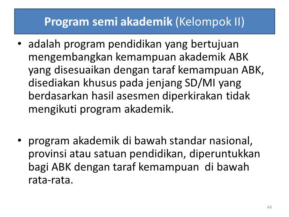 Program semi akademik (Kelompok II)