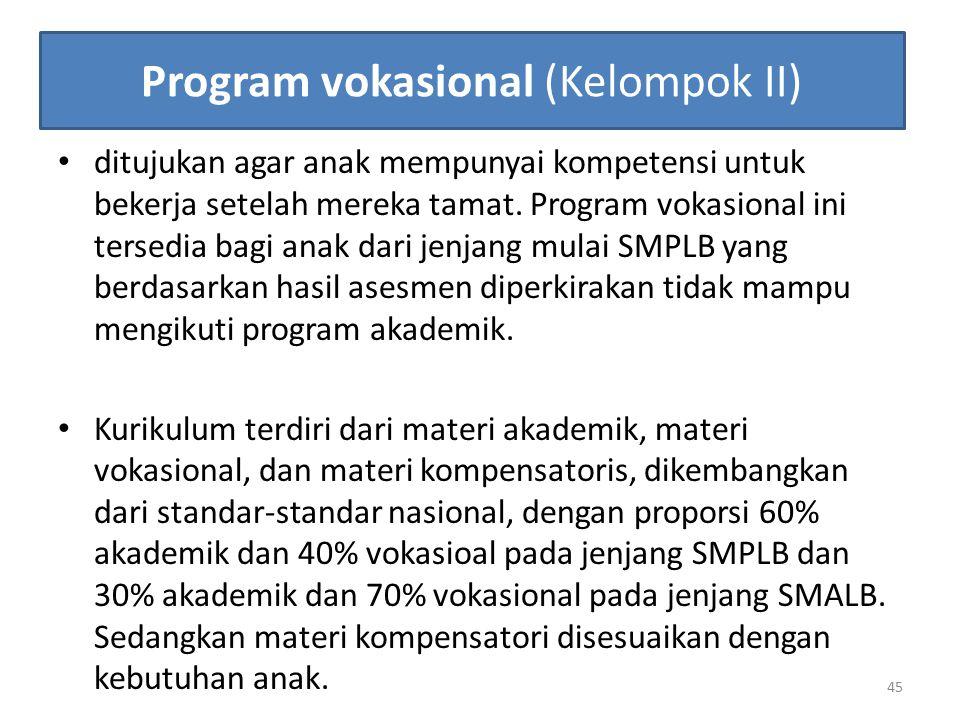 Program vokasional (Kelompok II)