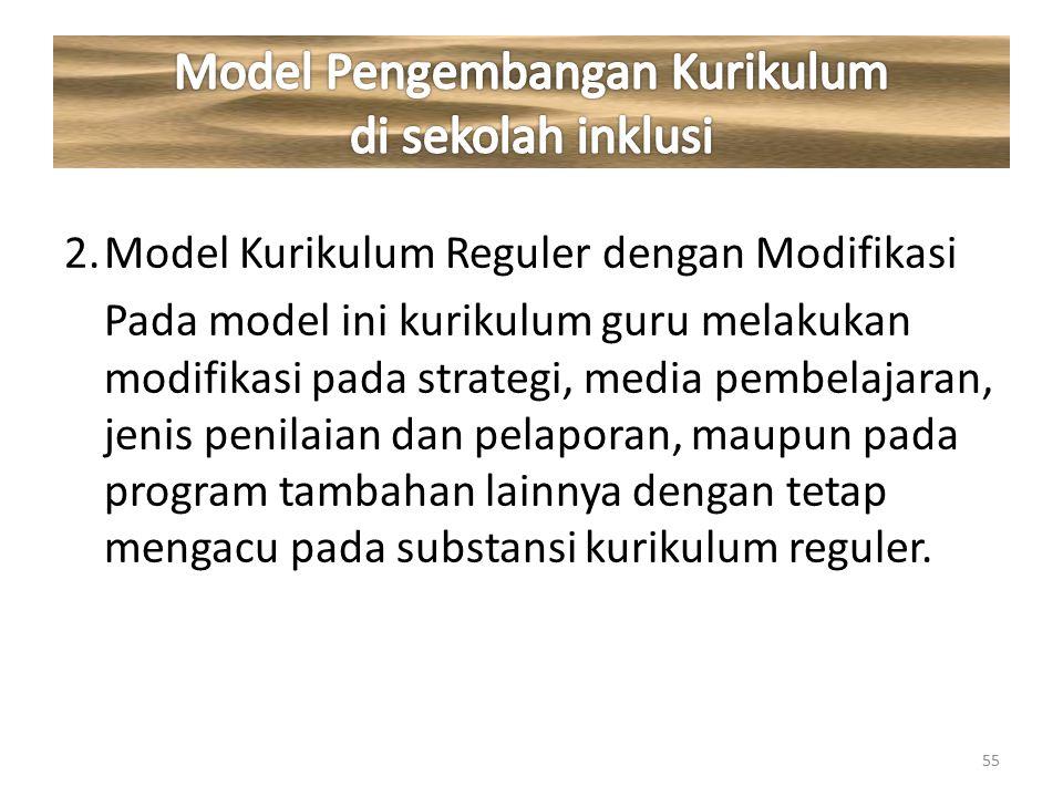 Model Pengembangan Kurikulum di sekolah inklusi