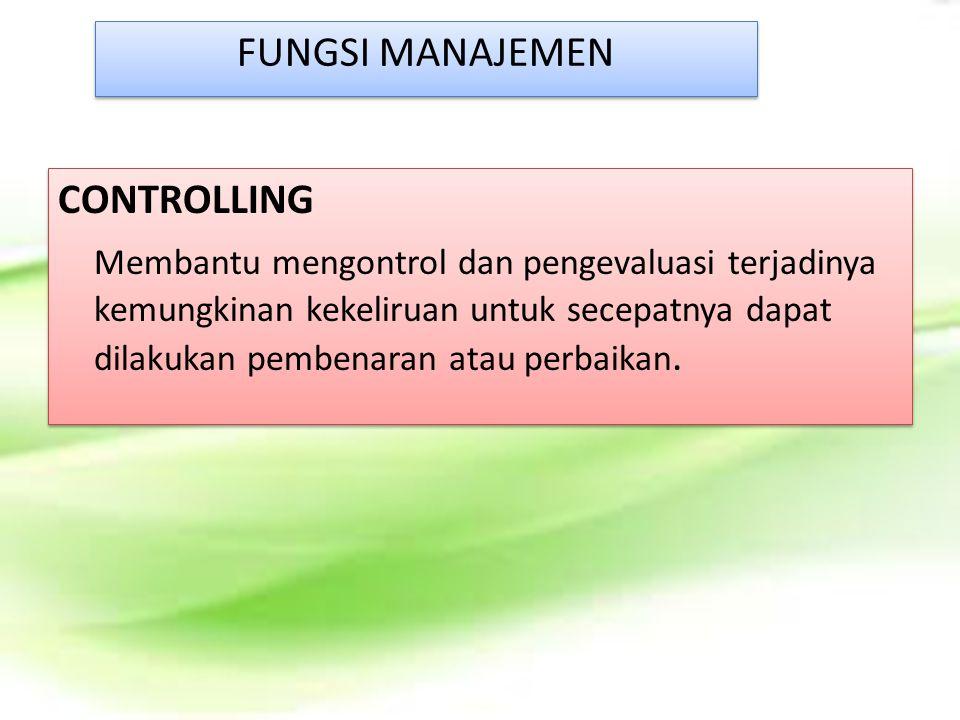 FUNGSI MANAJEMEN CONTROLLING.