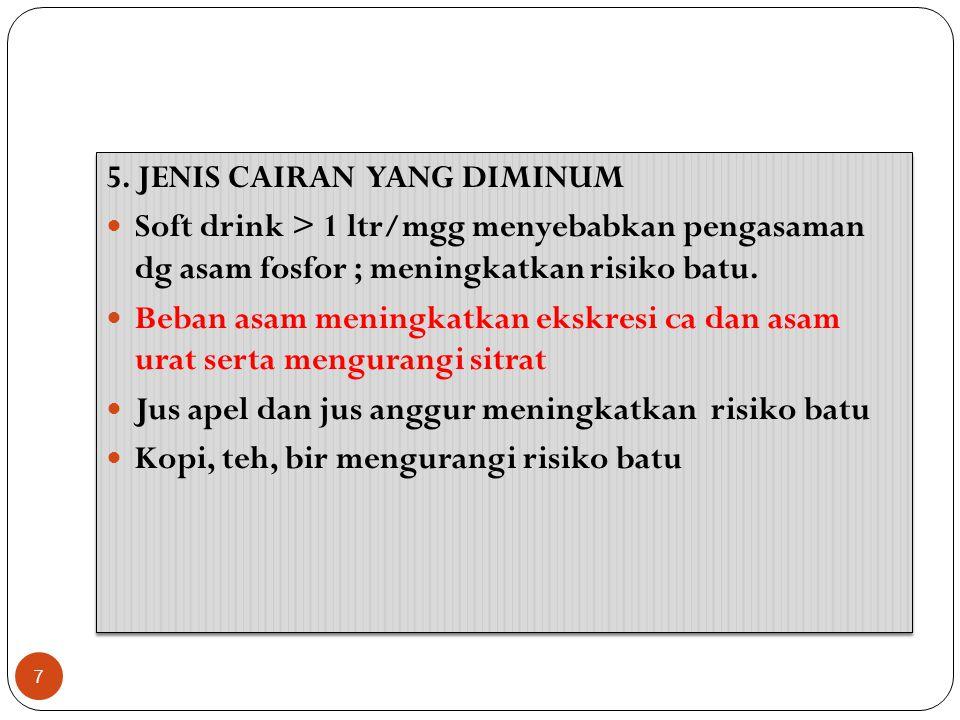 5. JENIS CAIRAN YANG DIMINUM