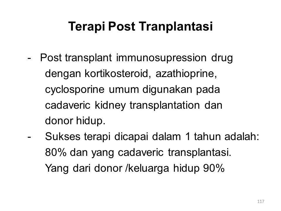 Terapi Post Tranplantasi