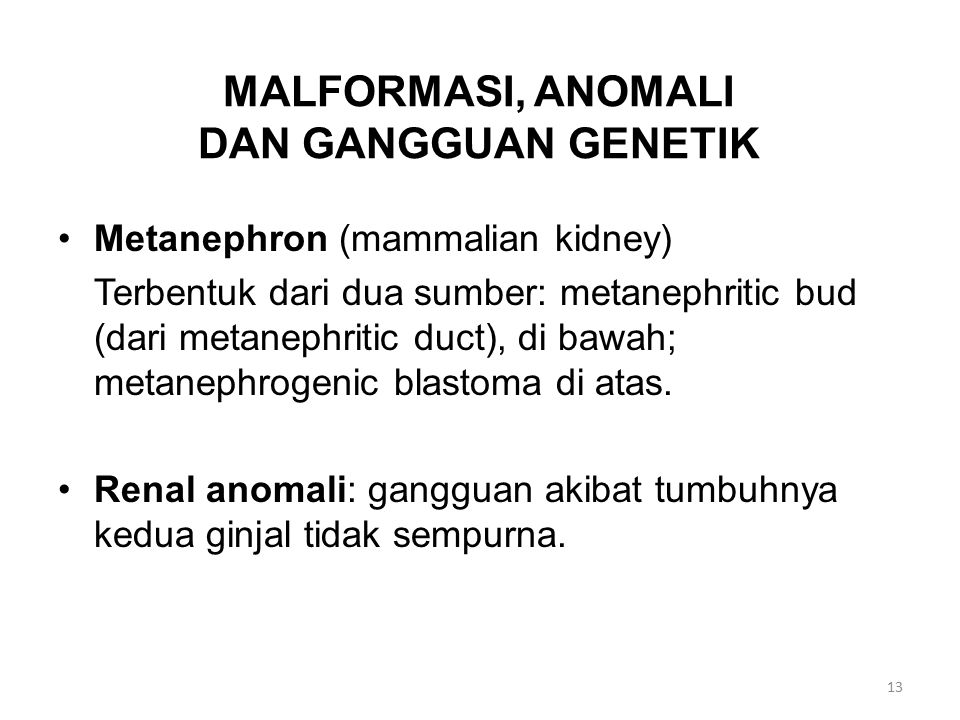 MALFORMASI, ANOMALI DAN GANGGUAN GENETIK
