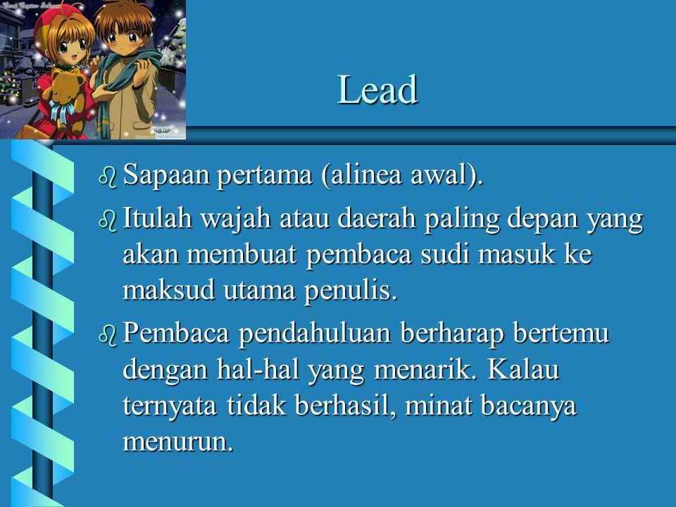 Lead Sapaan pertama (alinea awal).