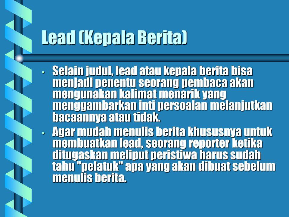 Lead (Kepala Berita)