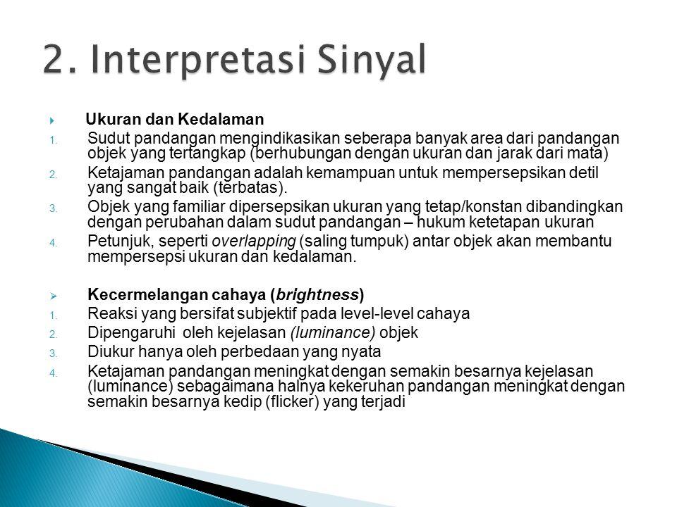 2. Interpretasi Sinyal Ukuran dan Kedalaman