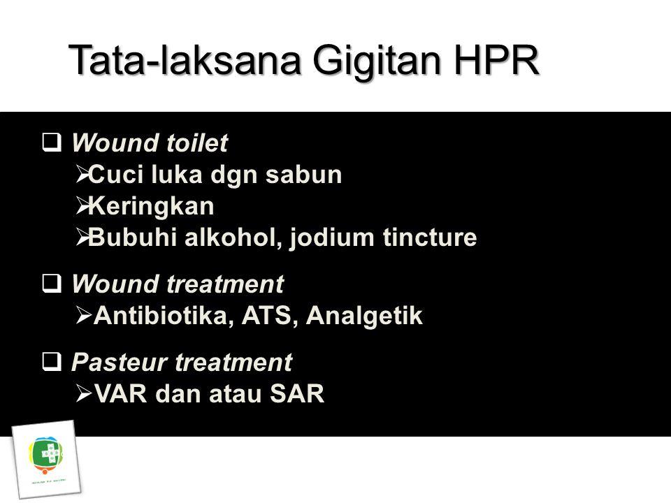 Tata-laksana Gigitan HPR
