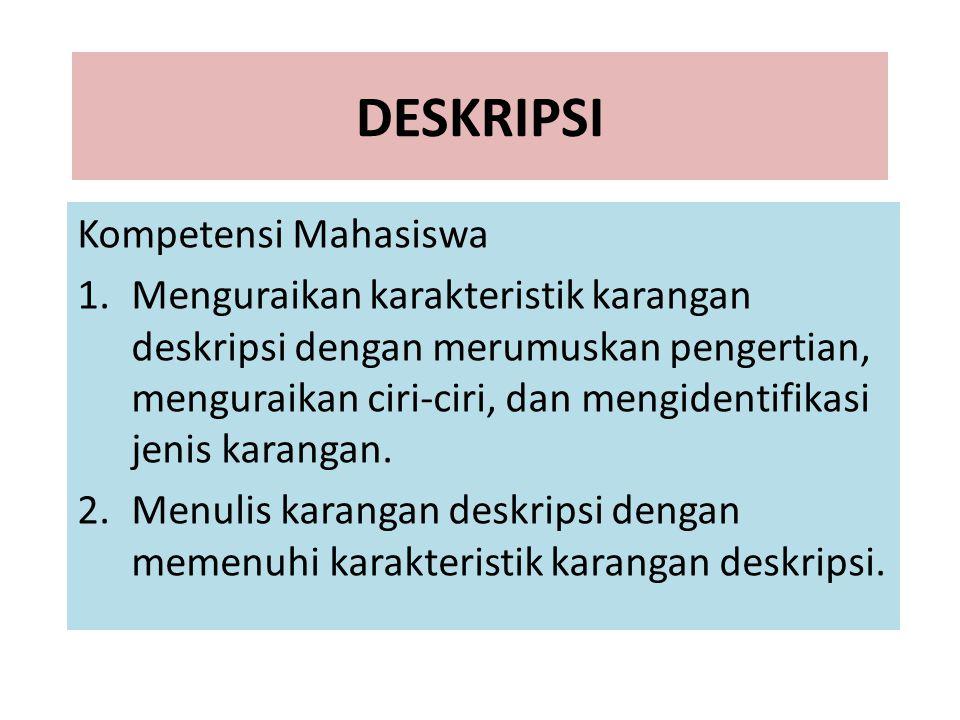 DESKRIPSI Kompetensi Mahasiswa