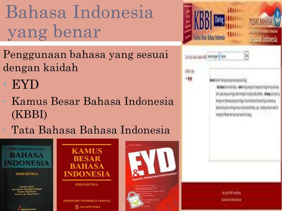 Bahasa Indonesia yang benar