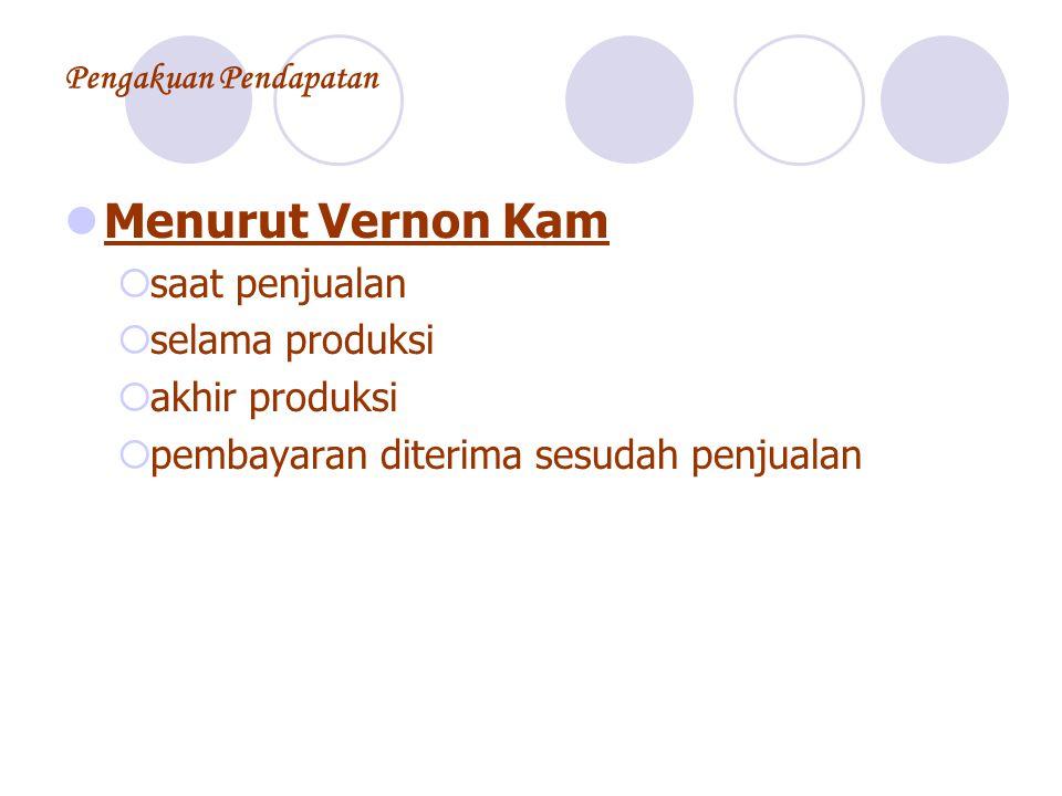 Menurut Vernon Kam saat penjualan selama produksi akhir produksi