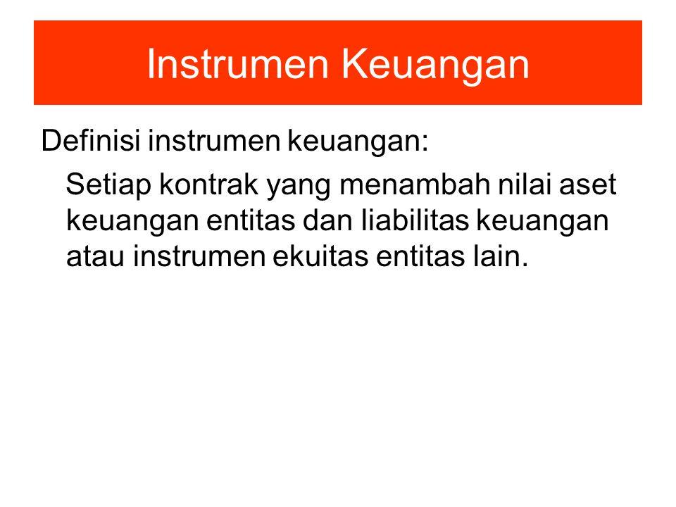 Instrumen Keuangan Definisi instrumen keuangan: