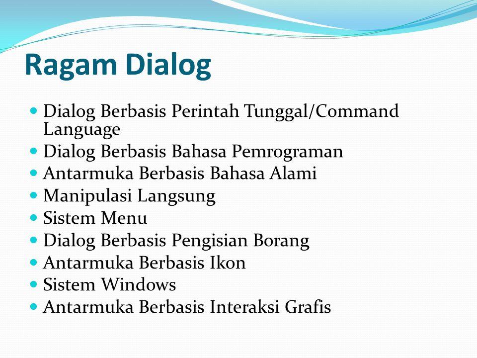 Ragam Dialog Dialog Berbasis Perintah Tunggal/Command Language