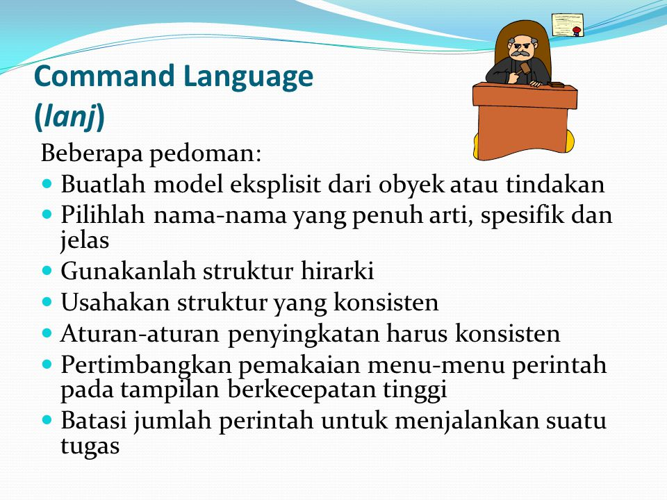 Command Language (lanj)